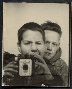 vintage photobooth photo | It is a standard photobooth print size of 40 x 55 mm.