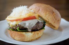 Four Cheese Cheese Burgers - adapted from Bobby Flay