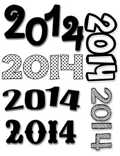 2014 free png images to use as you wish. Happy New year! Visit inkhappi.com for this and many inspirational new Years quotes!