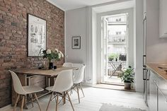 〚 Scandinavian interior with warm accents 〛 ◾ Photos ◾Ideas◾ Design Kitchen Interior, Kitchen Decor, Kitchen Design, Kitchen Brick, Kitchen Ideas, Kitchen White, Living Room Designs, Living Room Decor, Best Flooring For Kitchen