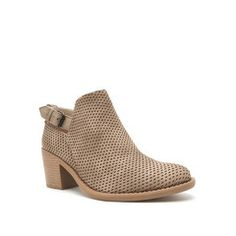 Your day just got better with these modern perforated booties! We love them with a lace up denim romper, bolo choker & a fedora hat! #booties #trending #fashion #style #booties #ankleboots #fashionista #boho #Bohostyle #bohovibes
