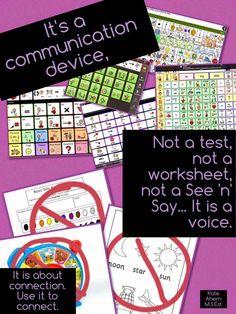 Here's another AAC poster for your classroom. This time a reminder that AAC devices are our student's voice.