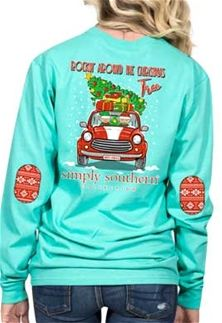 cc788e2d7 Simply+Southern+Preppy+Collection+Rockin'+Around+the+Christmas+Tree +Long+Sleeve+T-Shirt+for+Women+in+Aruba+LS-ELF-ARUBA