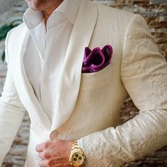 Our new S by Sebastian Jacket combined with our Sebastian Cruz Couture Plum Mezzanotte with Purple Signature Border. Join the Family! Be Bold.
