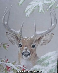 What is Your Painting Style? How do you find your own painting style? What is your painting style? Tole Painting, Painting & Drawing, Painting Canvas, Tole Decorative Paintings, Pintura Tole, Illustration Noel, Deer Art, Christmas Deer, Vintage Christmas