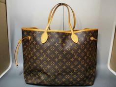 e4fe10e87344 AUTHENTIC LOUIS VUITTON NEVERFULL GM LARGE SHOULDER TOTE BAG HANDBAG PURSE  LV  fashion  clothing