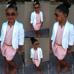 Very pretty little girl in her nice outfit