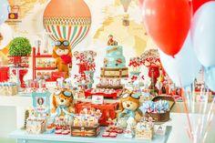 Olha que amor esta Festa Volta ao Mundo. Cores e decoração incrivéis! DecorPer Bambini Festas Lindas ideias e muita inspiração! Bjs, Fabiola Teles.   ...