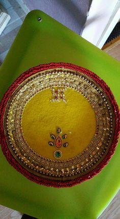 the thali are customized also as per requirement. the thali is steel base. great for festivals Diwali Diy, Diwali Craft, Diwali Gifts, Diwali Decorations, Indian Wedding Decorations, Flower Decorations, Arti Thali Decoration, Crafts For Teens, Arts And Crafts