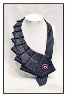 Plum Unique Repurposed Necktie Art Accessory by stylesbyana, $29.99
