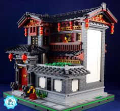 https://flic.kr/p/LuzRRR | lego MOC Chinese Style - QingYinGe | This is a Chinese style building in Western Sichuan, China