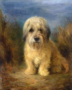 """""""A Dandie Dinmont"""" by Lilian Cheviot, English painter well known for dog portraits, 1876-1936"""