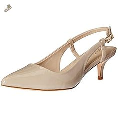 69a47ff15f6 Calvin Klein Womens Norine Patent Pointed Toe Slingback Heels