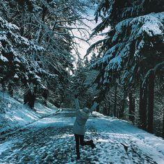 Winter wonderland in Mount Tabor Park Portland, Oregon