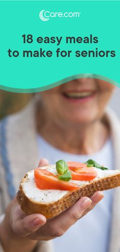 If you need some easy, nutritious recipes for the senior in your life, check out these 18 tasty and healthy meal ideas for seniors. Quick Easy Healthy Meals, Easy Food To Make, Healthy Foods To Eat, Nutritious Meals, Easy Meals, Healthy Eating, Elderly Care, Healthy Dinner Recipes, Nutrition