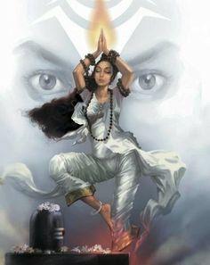Parvati worshipping Lord Shiva