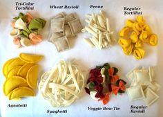 Felt Food Pasta Assortment ............................................................. by CutesyKats | Etsy