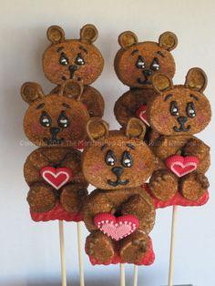 Teddy Bear Marshmallow Pops