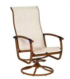 belden round weave high back swivel rocker patio furniture