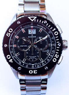 Edox men's watch with chronograph and date. From €1500 for €1049. See more at - http://www.megawatchoutlet.com/heren/edox.html