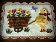 """""""Spring Has Sprung"""" from the Spring 2015 issue of Primitive Quilts and Projects magazine"""