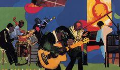 Jammin' at the Savoy by artist Romare Bearden Jazz Artists, Hip Hop Artists, Black Artists, African American Artist, Native American History, American Artists, American Women, British History, African Art