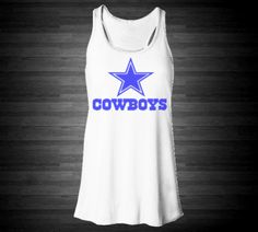 Dallas Cowboys Soft Racerback Tank For Women In White