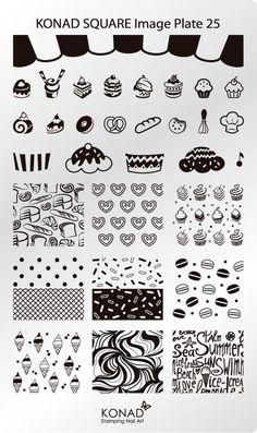 KONAD XL Square 25 Stamping Schablone Plate Nailart Nageldesign | Beauty & Gesundheit, Maniküre & Pediküre, Nail-Art-Zubehör | eBay!
