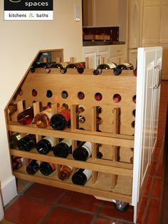 Under Stair Storage Design on casters