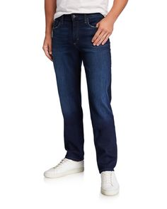 Joe's Jeans Men's The Brixton Straight-fit Jeans In Blue Joes Jeans, Jeans Fit, Denim Jeans, Brixton, Stretch Denim, Fitness, Blue, Clothes, Shopping