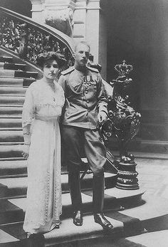 Their Imperial Highnesses Grand Duke Ivan Konstantinovich and Grand Duchess Elena Petrovna of Russia. Married: August 21, 1911