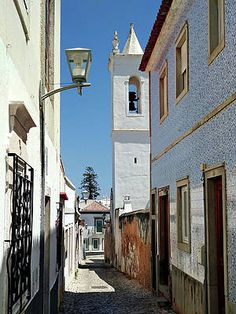 Narrow Street In Tavira - Portugal Print by Barry O Carroll Fine Art America, Portugal, Tower, Street, Prints, Photography, Fotografie, Photograph, Lathe