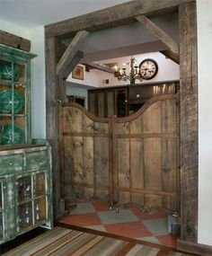 Saloon doors.  Always wanted this for my future kitchen <3