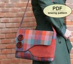 4d421c5ba7a11 New  Sewing pattern to make the Brancaster Messenger Bag - PDF pattern  INSTANT DOWNLOAD