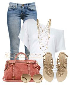 """""""Off Shoulder Top & Cropped Jeans"""" by casuality ❤ liked on Polyvore"""