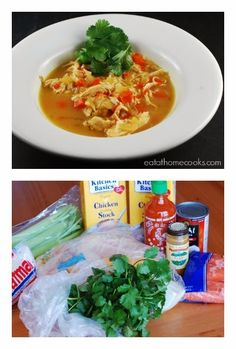 Easy Slow Cooker Thai Chicken Curry Soup from Eat at Home; this soup sounds delicious and uses ingredients you probably have on hand. [Featured on SlowCookerFromScratch.com] #ChickenSoup #FamilyDinner