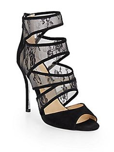 Kristin Cavallari Chinese Laundry - Leah Cutout Lace & Suede Booties