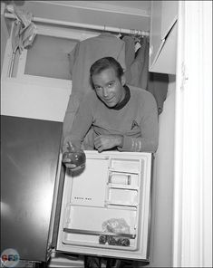 Capt. Kirk (William Shatner) on the set of Star Trek: The Original Series