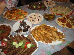 Iraqi table :) my aunt made all of this food <3
