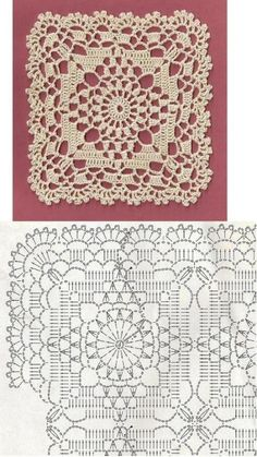 Transcendent Crochet a Solid Granny Square Ideas. Inconceivable Crochet a Solid Granny Square Ideas. Crochet Motif Patterns, Crochet Diagram, Crochet Chart, Crochet Squares, Thread Crochet, Love Crochet, Vintage Crochet, Granny Squares, Crochet Granny