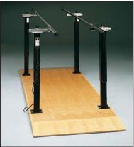 Electric Adjustable Hi-Lo Parallel Bars Mobility Platform - 10' #ambulationtraining #parallelbars #mobility