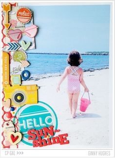 Fabulous layout inspiration using Crate Paper Products @cratepaper #summer #layouts