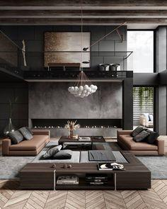Likes, 84 Comments - Georgios Tataridis Luxury Interior, Modern Interior Design, Interior Architecture, Chic Living Room, Living Room Interior, Dream Home Design, House Design, Loft Design, Design Moderne