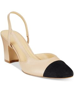 Ivanka Trump Liah Slingback Block-Heel Pumps - Love the small chunky heel in a d'orsay style.
