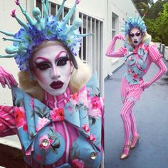 "Vander Von Odd; a really creative and passionate queen - on the Boulet Brothers' Youtube Series ""Dragula"" - You should definitely watch it!"