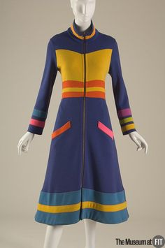 Stephen Burrows multicolor dress, Fall 1970. Collection of The Museum at FIT