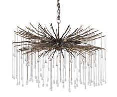 Currey and Company's Fin chandelier