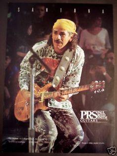 CARLOS SANTANA Paul Reed Smith Guitars