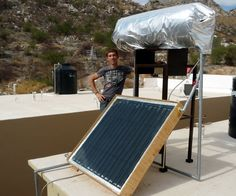 Hi there!Five years ago when I moved to Sonora (the most sunny state in Mexico) I decided to build a solar water heater (SWH) and save money and CO2 on fossil energy.It took me 6 months to figure out which system to choose according to the local climate, to size the collector and the tank and to design the 3D taking into account the material available locally.I built it on my free time and 2 months later I had it installed and producing year-round crazy-hot water for the whole family!Since…
