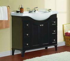 Vanities by depth! Great for narrow bathrooms!